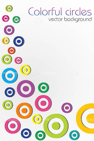 Abstract Background with Colorful Circles Pattern and Sample Text