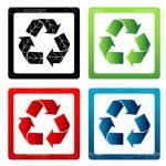 Vector Recycling Icons 4 Pack