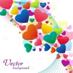 Colourful Hearts Background with Sample Text