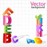 Jumbled Colourful Letter Towers Background with Sample Text