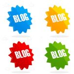 Colorful Blog Badges Icon Set