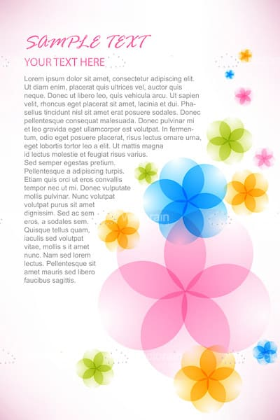 Bright Abstract Floral Background with Sample Text