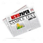 Colorful Newspaper with Sample Text