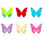 6 Pack of Colourful Butterfly Icons