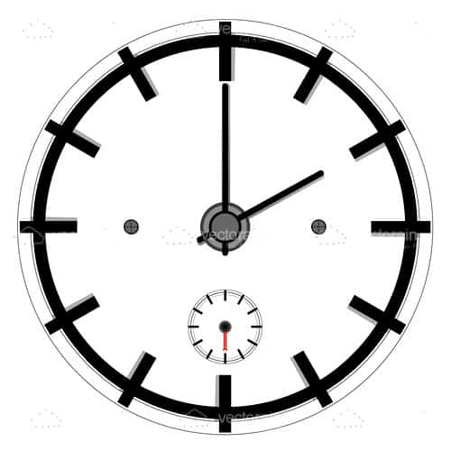 Minimalist Clock in Black and White