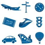 Transportation and Vehicles Icon Set