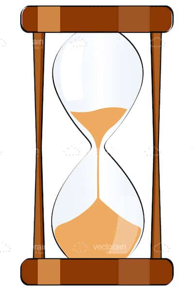 Classic Hourglass with Wooden Frame