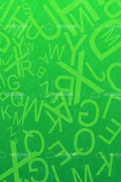 Abstract Green Letters Background