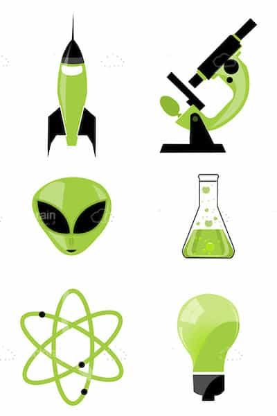 Abstract Science Related Icon Set