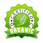 Green Organic Certified Stamp