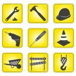 Construction and Tools Icon Set