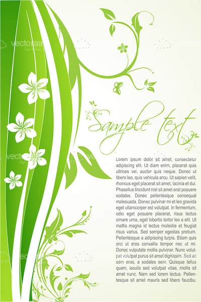 Floral background with sample text