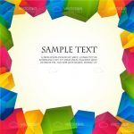 Abstract Background with Colorful Cubes Frame and Sample Text