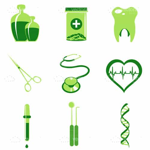 Abstract Medical Items Icon Set