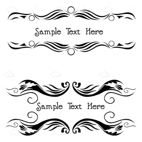 Floral Pattern Headers with Sample Text