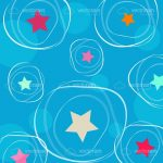 Fun Background with Abstract Stars and Circles