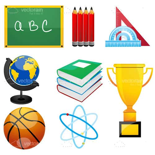 Education Items Icon Set