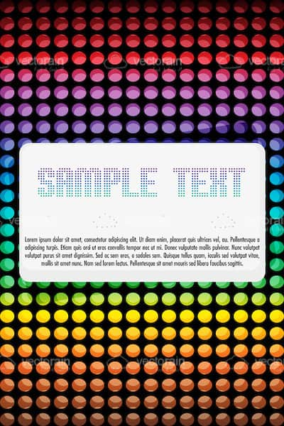 Abstract Colourful Vector Card Background