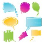 Colourful Dialogue Bubbles in Different Shapes and Styles