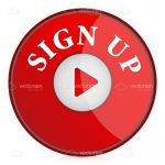 Red Sign Up Button with Arrow Symbol