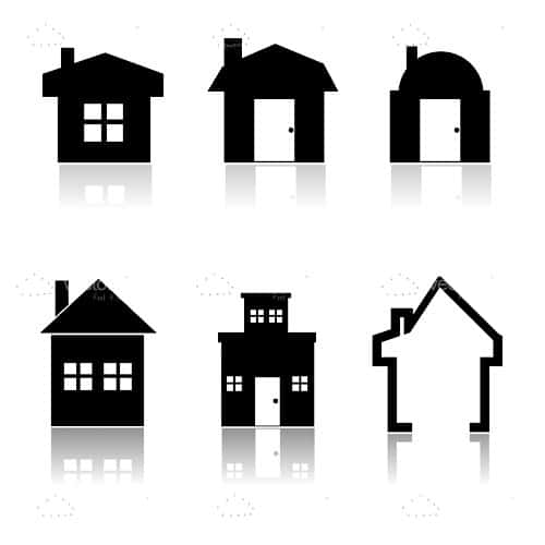 Abstract Buildings Icon Set