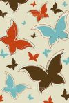 Retro butterfly background