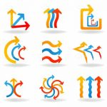 Multicolor Arrows Icon Set