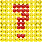 Square of Smileys with Angry Question Mark