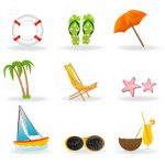 Beach Themed Icon 9 Pack