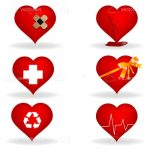 Medical Heart Illustration Icon 6 Pack