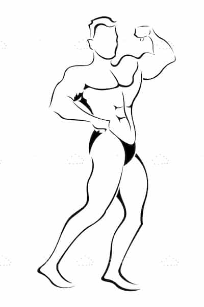 Male Bodybuilder in Sketch Style