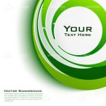 Abstract Green Vector Background with Sample Text