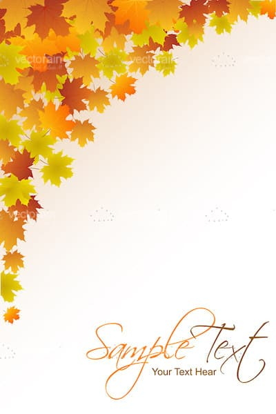Autumn Background with Maple Leaves and Sample Text