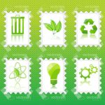 Green Recycling Stamps Icon 6 Pack