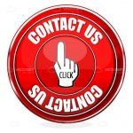 Red Contact Us Button with Hand Cursor