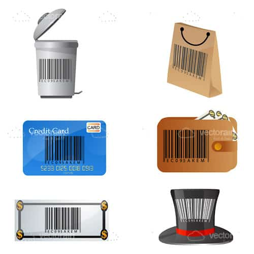 Barcode on different objects