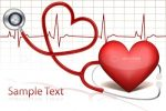 Heart Listening to Stethoscope with Cardiogram Background