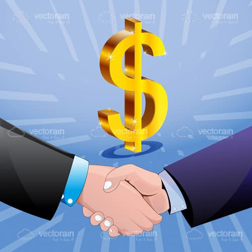 Handshake and Dollar Symbol