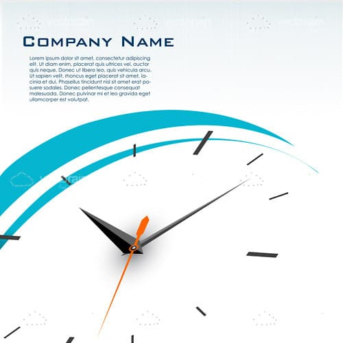 Abstract Clock Face with Sample Text