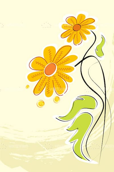 Abstract Daisies Background