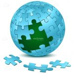 Blue Jigsaw Puzzle Ball