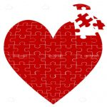 Red Heart Shaped Jigsaw Puzzle