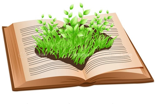 Open Book with Garden in Centre