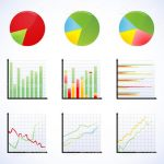 Various Colourful Graph Icons 6 Pack