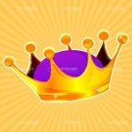 Illustrated Gold and Purple Crown