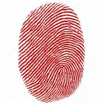 Red Thumb Fingerprint