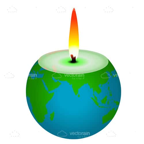 Earth Shaped Candle