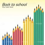 Back to School Pencils Background with Sample Text