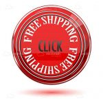 "Red 'FREE SHIPPING"" Button"