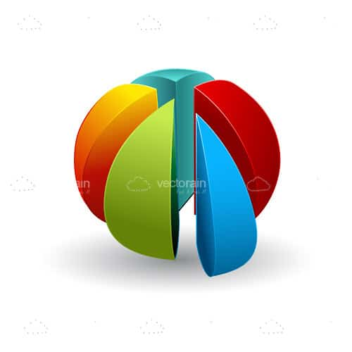 Multicolor Pie Chart in 3D